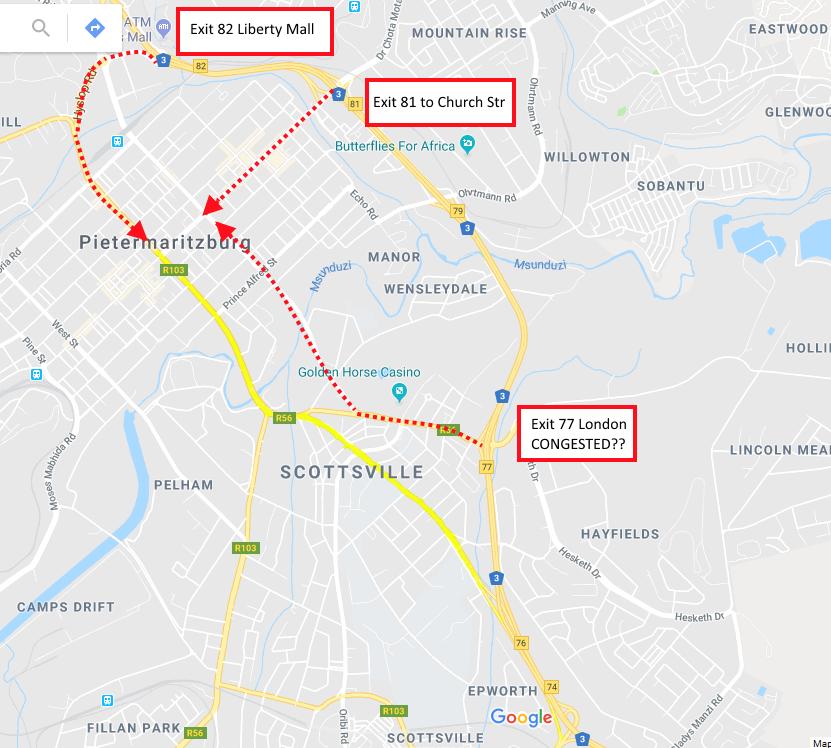 Pietermaritzburg entrances